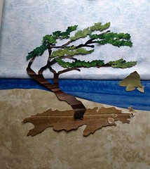 Windswept tree (shireye) Tags: applique quilt wallhanging 14x14 tree windswept