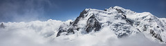 Mont Blanc Above the Clouds (DFiveRed) Tags: italy cloud mountain snow france mountains ice berg rock fog clouds montagne canon point switzerland climb frozen chopper freezing plan peak du helicopter trail needle v