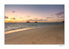 610-0910 (Hawaii Photo's) Tags: ocean sunset vacation sun kite beach water colors clouds sunrise hawaii islands sand paradise surf kayak oahu surfing kailua lanikai mokulua