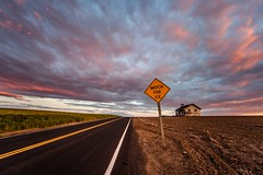 Watch For Ice (Jeff Engelhardt) Tags: road signs abandoned