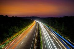 Quantum Slipstream (Tim van Zundert) Tags: road light sky west car night dark sussex brighton long exposure motorway sony hill trails dual mid burgess henfield a23 hassocks carriageway hurstpierpoint a7r albourne sel2470z