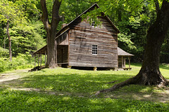 Smoky Mountain Homestead (rschnaible) Tags: park wood old homes usa mountain history home architecture forest buildings us wooden cabin tennessee south historic southern national smoky eastern the
