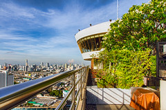 Rooftop View (Dave_O1 ~ Dave Edwards) Tags: city vacation sky holiday garden thailand hotel view drink bangkok bluesky images daves 5star chaophrayariver millenniumhilton davidedwards daveedwards canoneos7d dave01 davesimages efs1585isusm dredangler 360rooftopbar