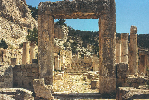 portail de l'église des Evangélistes, Alahan Manastırı, Içel
