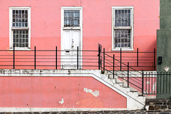 Pretty in pink (rowjimmy76) Tags: city pink windows urban home southafrica doors steps capetown neighborhood dslr westerncape bokaap malayquarter canonef24105mmf4lisusm 5dm2 5dmii