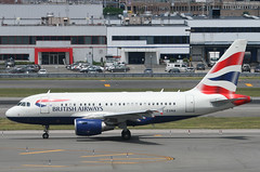 BRITISH AIRWAYS, AIRBUS A318, G-EUNA, at JFK, New York, USA. June, 2014 (Tom Turner - SeaTeamImages / AirTeamImages) Tags: nyc usa newyork plane airplane airport unitedstates taxi aircraft aviation transport jet twin jfk passengers queens international transportation airline airbus pax passenger airways britishairways bigapple kennedy airliner jetplane johnfkennedy portauthority taxiing taxiway a318 speedbird tomturner airbusa318 babybus geuna