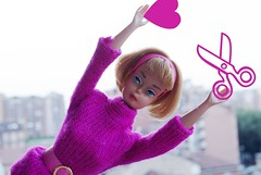 scissorsheart (LAT_te) Tags: city pink girl japan vintage gold 60s doll heart legs bend touch barbie optical lips made american blonde restored lavander ash mattel tlc bambola bendable shissors