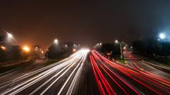 Lines (maxbucksbaum) Tags: longexposure bridge light chicago lightpainting color cars night nikon d90 nikonflickraward flickraward5