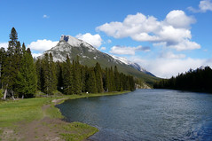 Mount Rundle and the Bow River (Rodents rule) Tags: canada alberta banff mountrundle