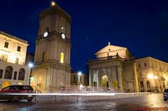Lanciano (Luca Magni) Tags: longexposure italy cars night lights italia basilica campanile luci notte paesaggio abruzzo piazzaplebiscito comune lanciano