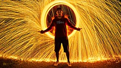 Will of fire (leogdiniz) Tags: inspiration lightpainting creativity fire photography will specialeffects steelwool firephotography