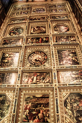 The Hall of the Five Hundred Ceiling Murals - Florence, Italy (The Web Ninja) Tags: travel italy color colour history architecture painting photography hall photo florence italian mural colorful europe paint five palace historic explore architect hundred firenze palazzo renaissance medici florentine palazzovecchio explored