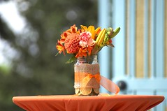 DSC06703 (jenya0902) Tags: park blue trees wedding decorations red roses summer orange blur flower green colors leaves yellow garden table happy photography spring flora bright random unique awesome jar lillies bouquet moment capture occasion photooftheday centerpieces