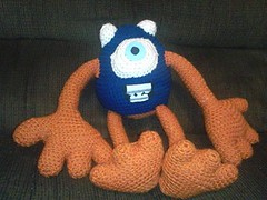 Andrea Powell (The Crochet Crowd) Tags: mike toy mikey cal amigurumi redheart monstersinc crochetalong crochetpattern staceytrock freecrochetpattern thecrochetcrowd michaelsellick mysterycrochetchallenge whosinyourcloset monstersinccrochetpattern monstersuniversitycrochetpattern