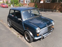 1993 Rover Mini Mark VI Rio  L245 XUT (Paul D Cheetham) Tags: rio four 1st mark derbyshire engine july august mini rover 1993 series spotted petrol straight 13 derby vi litre 22nd allestree 2014 aseries xut a 1275cc l245 straightfour l245xut
