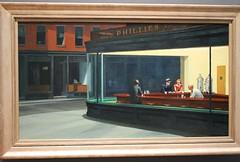 CHICAGO - NIGHTHAWKS (Punxsutawneyphil) Tags: usa chicago art museum america painting us illinois arte unitedstates kunst american northamerica bild amerika hopper nighthawks edwardhopper kunstwerk chicagoartinstitute gemälde vereinigtestaaten nordamerika