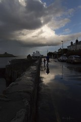 FATHER&SON (bella_blue_star) Tags: ireland dublin silhouette clouds reflections dalkey contrejour fatherson