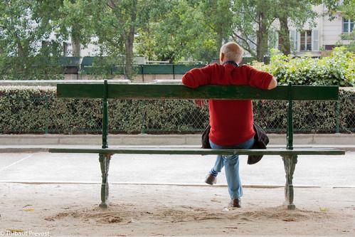 Une pause sur un banc