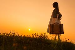 夕陽を見に・・・ (のの♪) Tags: 35mm 夕陽 dd 夕景 dollfiedream 越前海岸