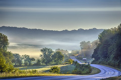 Morning Commute (In Wonder Photo) Tags: mist fog wisconsin sunrise landscape nikon center richland driftless markadsit
