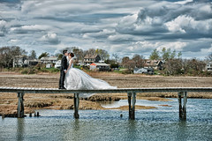 [wedding] bridge over water (pooldodo) Tags: bridge wedding usa cloud water boston groom bride prewedding pooldodo taotzuchang