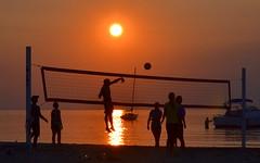 DSC_4939 (claymore2211) Tags: sunset summer people orange net beach sports silhouette person jump jumping action winner spike volleyball ultrahero superherochallenges