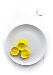 Sunspots (Raggedjack1) Tags: abstract candles whiteplate citronella yellowonwhite yellowcandles