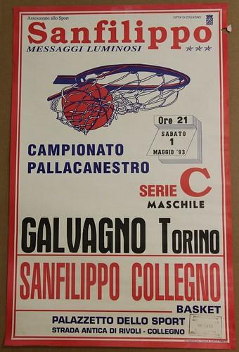 Manifesto Collegno Basket vs. Galvagno - Serie C Maschile