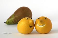 Trabajando con limones (Luisa Colado) Tags: food face yellow fruit lemon play lemons fruta citrus limon playfood limones citricos