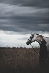 (Tasha Mare) Tags: boy portrait horse male green animal vertical clouds dark photography model portraiture tashamarie photographersonflickr photographersontumblr teapalm
