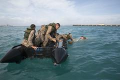 Coxswain course promotes amphibious capabilities (Okinawa Marines) Tags: beach water japan search board visit claw okinawa zodiac 13 knots navigation amphibious knottying smallboat seizure usmarines beachlanding jonwalters sotg vbss 1stbattalion physicaltraining broaching