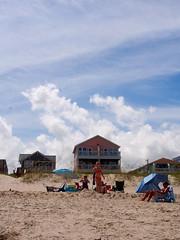 P7130354 (photos-by-sherm) Tags: ocean summer sun beach clouds nc north atlantic carolina walkers sunbathers