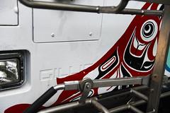 Gillig Bike Rack (Joseph Austin) Tags: urban bus art alaska native ak gillig alaskanadventure bikerack nativeart citybus ketchikanak urbantransit gilligbus