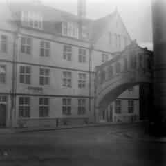Bridge of Sighs (sfryers) Tags: city bridge 6x6 monochrome architecture mediumformat education university arch historic iso covered oxford 100 29 colleges academic baldi shanghaigp3 baldanar