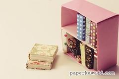 modular origami bookcase – video tutorial (paperkawaii) Tags: cute make paper book origami case howto kawaii bookcase tutorial origamibook