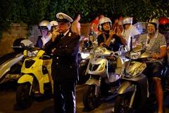 S0103036a-w (Julian Stallabrass) Tags: capri police mopeds bikers riders anacapri