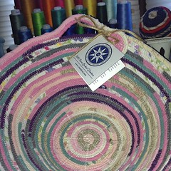 "I just put the last stitches in the patchwork basket that I shared with you yesterday. I adore this combination of fabrics and colors, don't you?  I'll be adding this Medium Egg Basket to our Etsy shop later today and sharing the link right here, so stay • <a style=""font-size:0.8em;"" href=""http://www.flickr.com/photos/54958436@N05/14954555341/"" target=""_blank"">View on Flickr</a>"