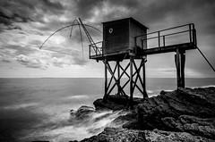 Carrelet (ForgottenMelodies) Tags: sea landscape nd1000 pose longue pentax k5 1224mm carrelet bw fishing nicolasauvinet