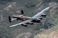 RAF Avro Lancaster PA474 low level at Thirlmere (NDSD) Tags: world lake heritage war district low level cumbria lancaster bomber raf avro thirlmere flypast bbmf