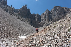 Up, up, up... (rozoneill) Tags: park baker hiking snake nevada great peak basin national wheeler range wsweekly98
