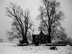 only a memory (Feeling The Green) Tags: winter snow history abandoned farmhouse rural indiana faded memory abandonedhouse baretrees