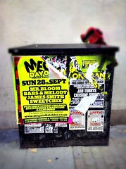 Posters (Hayden'sCamera) Tags: uk blur advertising town box livemusic parties advertisement bands drugs posters rave concerts colourful essex luminous songs southend raves grotty toddterry