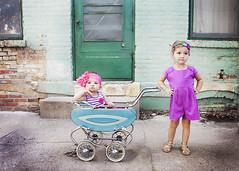 (johnnyvintage) Tags: family pink girls portrait urban cute nebraska aqua teal watson chic