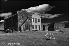 The Dechambeau Hotel And I.O.O.F. Buildings in Bodie (Mimi Ditchie) Tags: blackandwhite bodie ioof easternsierra dechambeau dechambeauhotel ioofbuilding