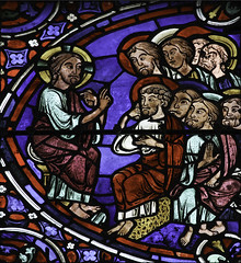 Gathered in My Name (Lawrence OP) Tags: france cathedral stainedglass medieval teacher chartres apostles jesuschrist