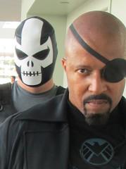 Nick Fury & Crossbones (MorpheusBlade) Tags: costume cosplay shield comicon crossbones nickfury baltimorecomicon baltimorecomiccon agentsofshield brockrumlow baltimorecomiccon2014