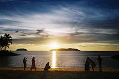 (YL.H) Tags: ocean sunset sea film beach island asia southeastasia olympus malaysia borneo mjuii  sabah  analogy  tanjungaru   mju2