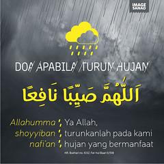sunnah hujan, doa hujan, hujan, doa