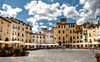 Lucca - Piazza dell'Anfiteatro (Joebelle) Tags: italy canon geotagged day cloudy lucca geotag hdr photomatix 40d piazzadellanfiteatro canon40d platinumheartaward