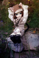 (Jane Kolyadintseva) Tags: boy summer grass kids cat play bjd mystic fairytail